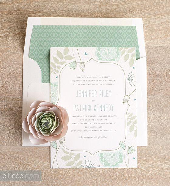 DIY Spring Wedding Envelope LIners | Ellinée | handcraft your life