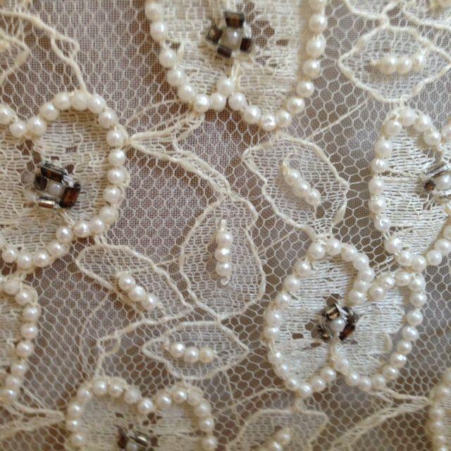 Kort kjole med perler fra New York, 1960´erne | Vintagebrides