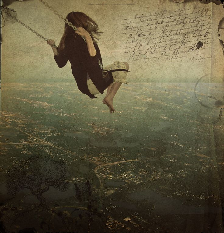 ~ Swinging ~That Girls, Dreams, Photos Manipulation, The Artists, Swings, Beautiful, Inspiration Pictures, Cities View, Happy Life