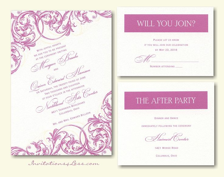 With A Flourish Wedding Invitation
