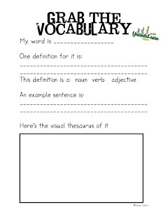 Grab the Vocabulary Freebie