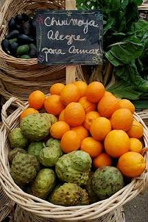 chirimoya alegre / Custardapple + orange + chantilly
