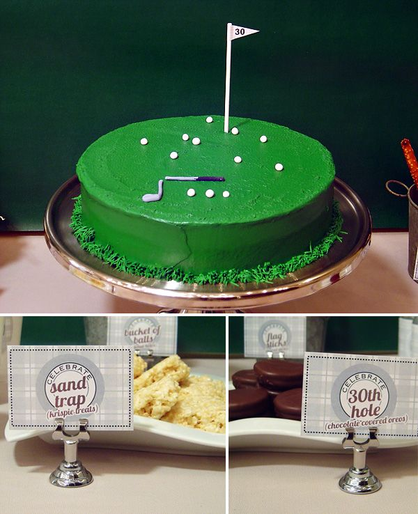 Golf Birthday Party- wanna make this for dads bday nxt yr!