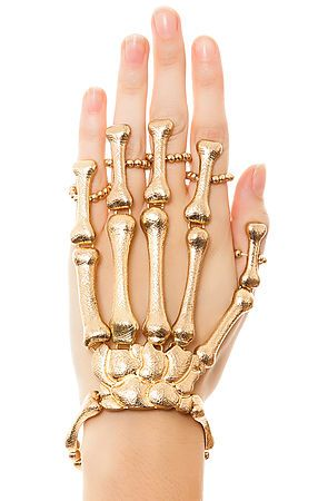 The Skeleton Handlet... oh so creepy, but a must for Halloween