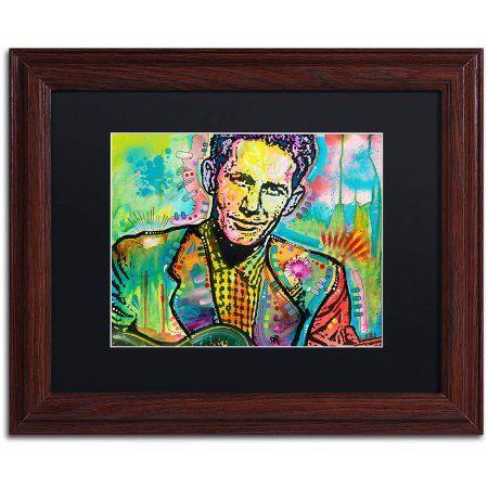 Trademark Fine Art Chet Atkins Canvas Art by Dean Russo, Black Matte, Wood Frame, Multicolor
