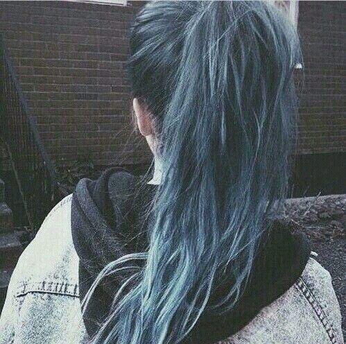 Niebieskie!  #hairstyle