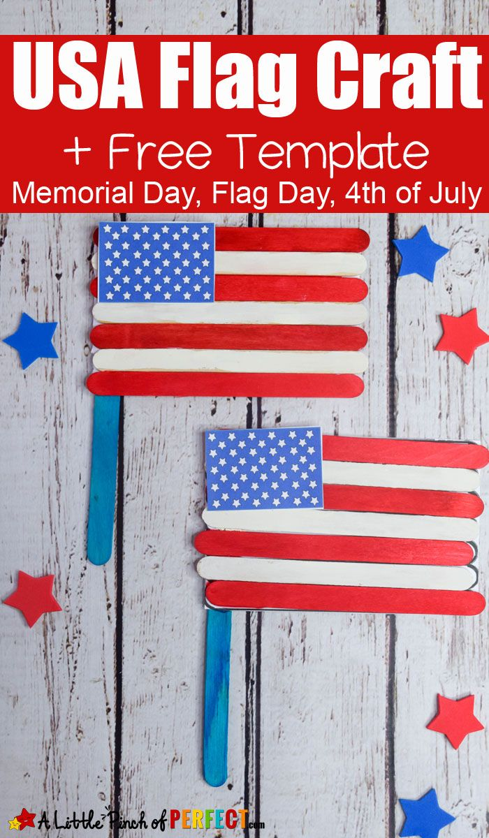 4th Of July American Flag Popsicle Stick Craft And