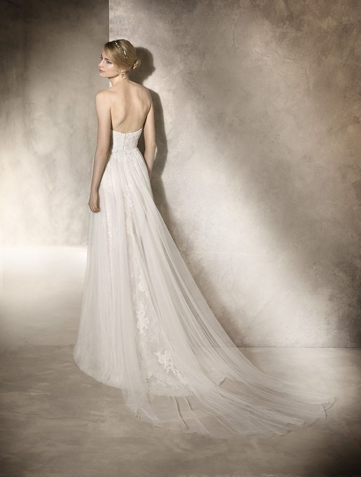 Unique Wedding Dresses in Cape Town <3<3  We Love La Sposa 2017 range. Stunning Illusion Train with open back and lace @ House of Silk Bridal Studio
