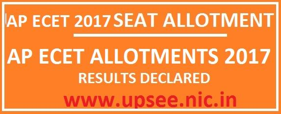 AP ECET Seat Allotment Results 2017 Manabadi AP ECET 1st Phase Seats