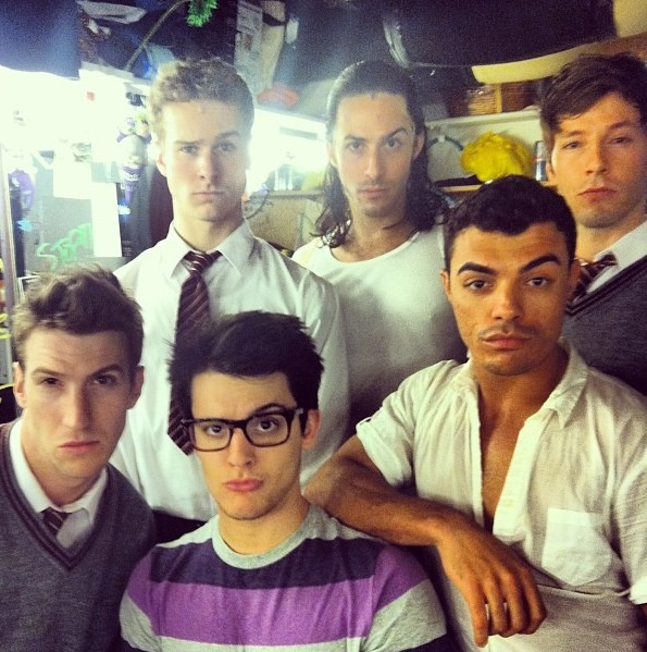 Ladies & Gents I give you....the guys ensemble of Matilda Broadway. So much to love in one picture.