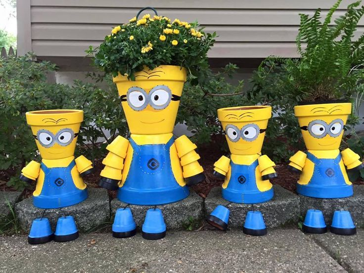 Add some personality to your garden with these cute Minion Clay Pot People! They are so easy to create once you know how - check out all the versions now!