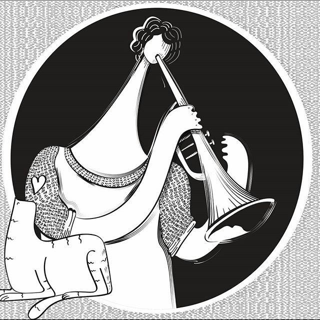 :: avance :: #illustration #gato #cats #catslover #sketch #love #instagood #painting #digitalpainting #vectorart #vectorillustration #tablet #drawing #digitalart #digital #illustratorsofinstagram #instagram #ilustradoreslatinoamericanos #artoftheday #instaillustration #catillustration #jazz #graphic #catsofinstagram #bogotart #music #trompette #instrument #ilustración #doodle