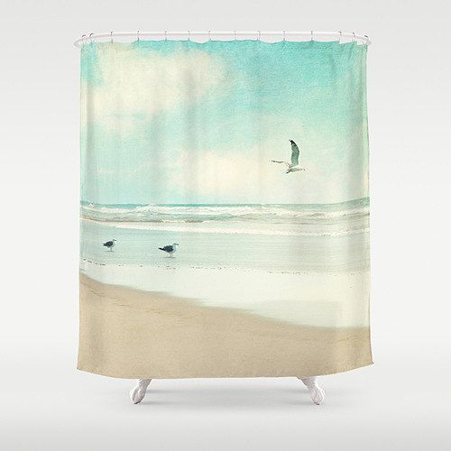 Ocean Shower Curtain By Vintage Chic Images   Beach Style   Shower Curtains    Etsy