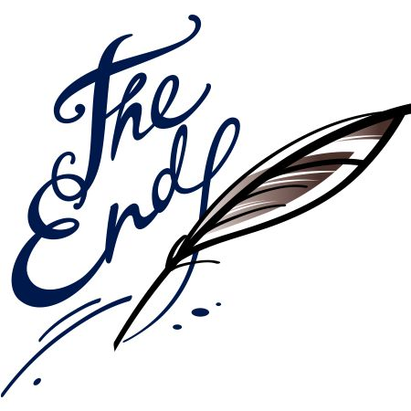 The End in stylish text