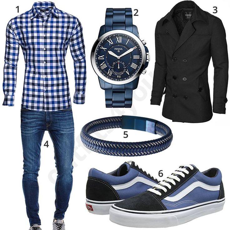 Herren-Style mit kariertem Hemd, Parka und Smartwatch (m0976) #hemd #uhr #fossil #vans #jeans #smartwatch #outfit #style #herrenmode #männermode #fashion #menswear #herren #männer #mode #menstyle #mensfashion #menswear #inspiration #cloth #ootd #herrenoutfit #männeroutfit