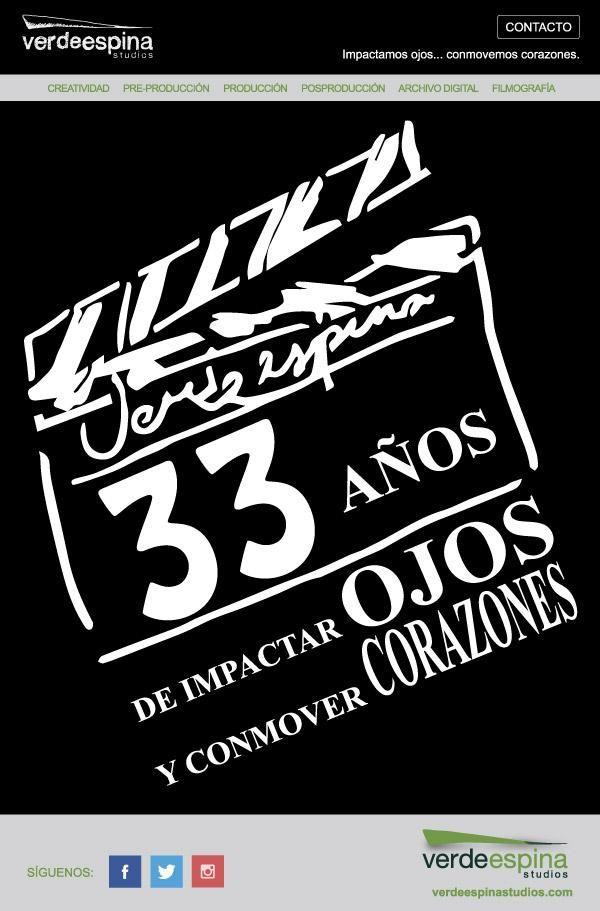 Porque la creatividad va de la mano con la experiencia...   Este mes ¡celebramos 33 años de impactar ojos y conmover corazones!  #verdeespinastudios #casaproductora #México #preproducción #producción #posproducción #cine #radio #televisión