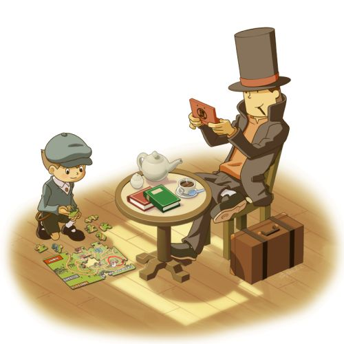 Professor Layton | Could these two GET any cuter?<< Depends. Could they be drawn cuter?