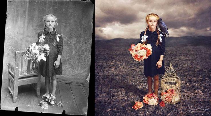 Quand une photographe donne un coup de jeune à de vieilles photographies d'archive… (image)
