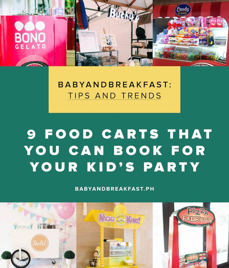 9 Food Carts That You Can Book For Your Kid's Party | Food Carts | Birthday Ideas | Cotton Candy | Ice Cream | Brownie's | Nachos | Pizza | Gelato | http://babyandbreakfast.ph/2017/05/17/10-food-carts-that-you-can-book-for-your-kids-party/