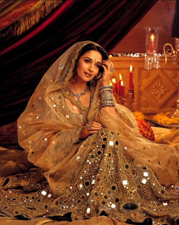 Madhuri Dixit in an amazing shisha dress.