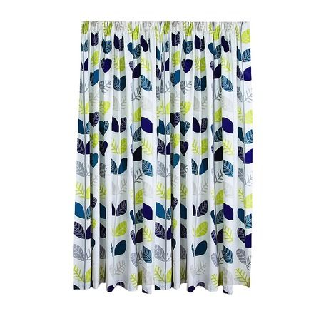 Elemis Limited Edition Curtains Libby Teal Extra Large 205cm Drop - Promotional - Curtains - Curtains & Blinds - The Warehouse