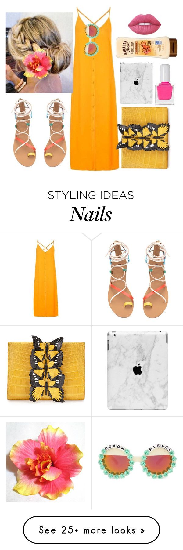 """""""Hawaii"""" by psicomayte30 on Polyvore featuring Topshop, Nancy Gonzalez, Rad+Refined, tenoverten and Lime Crime"""
