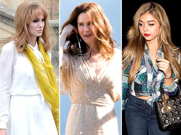 Angelina Jolie's Blonde Wig, Sarah Hyland's Long Extensions and More Celebrity (Faux) Hair Happenings