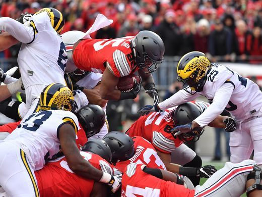Mike Weber dives into the end zone for a touchdown - USA Today - btw ttun was #3, not #4.