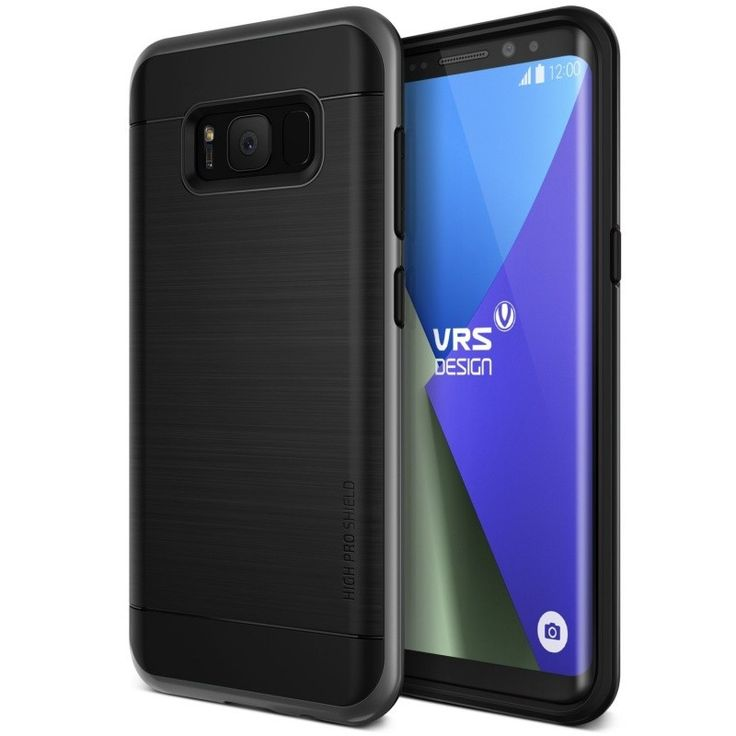 VRS Design High Pro Shield Case for Samsung Galaxy S8 Plus - Dark Silver  #Premium_quality_luxury_cases Buy yours @ #Agorashop