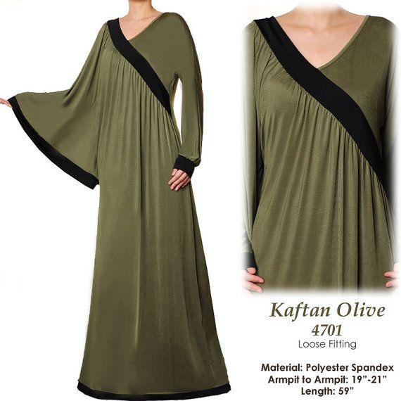Dubai Batwing Kaftan Abaya Jersey Long Sleeves