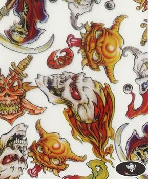 New arrival scary skull pattern hydro water transfer printing hydrographics film,50cm wide,hydro dipping HYA-758