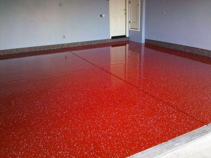Breathtaking behr garage floor paint red color