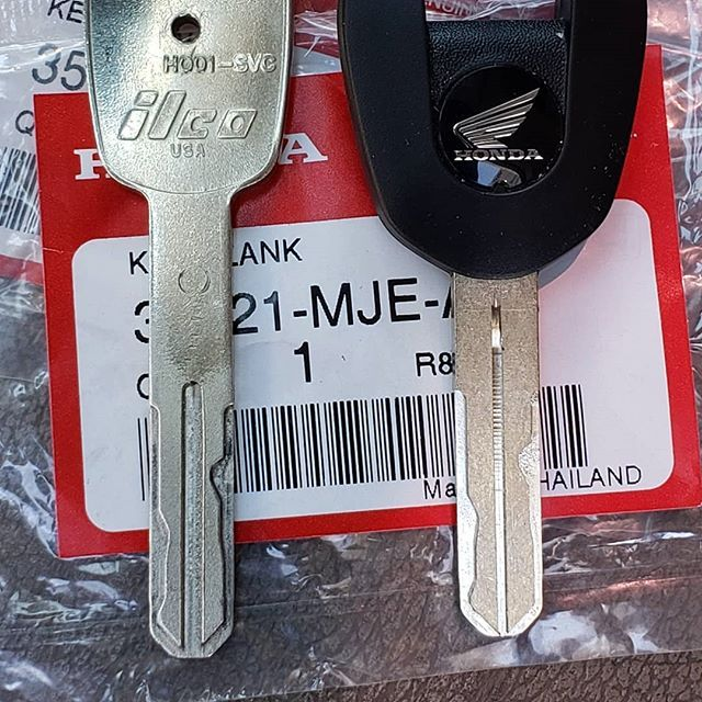 Honda Motorcycle Replacement Key The One On The Left I Made By