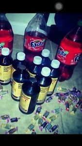 QUALITEST PROMETHAZINE with codeine syrup. Take out the jolly ranchers tho