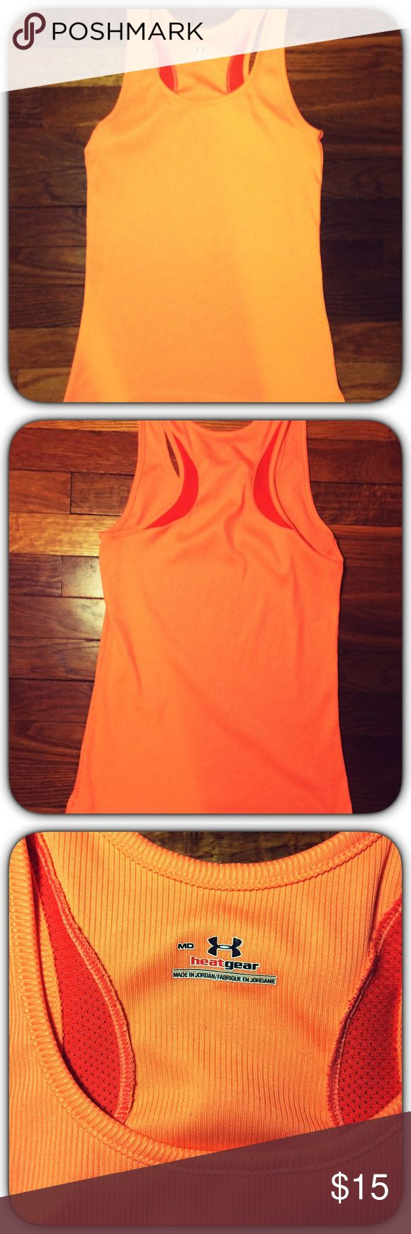 Under Armour Tank Top Under Armour Tank Top! Excellent Condition Like New!!! Size Medium! Sunset Orange! ** Free Under Armour Headband W/ Every UA Purchase In My Closet While Supplies Last!! ** ✨ Repeated Buyer Discount Offered & Available!!! ✨ *Save to bundle more UA in my closet! * Under Armour Tops Tank Tops