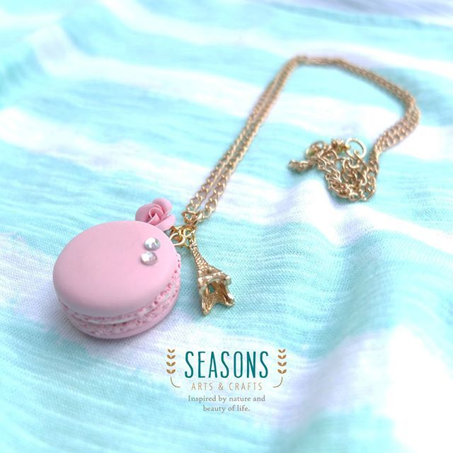 Good morning! For some people this is the last day of work on this week. Let's hang on a bit more and get ready to enjoy your weekend with family and friends :) Brought to you this simple #macaronnecklace with #rosecharm and #eiffelcharm  The total length approximately about 32 cm, so it will hang nicely when you wear simple outfit.  Available in any colors just drop message ;) Dare to be different!  #handmadeaccessories #handmadeclay #madewithlove #handmadejewelry #handmadenecklace…