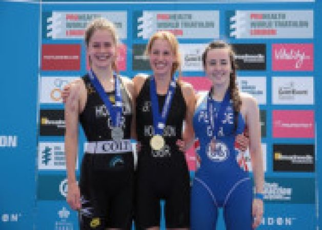Two sisters finished first and second at the British Junior Aquathlon Championships held on the Olympic triathlon course at London's Hyde Pa...