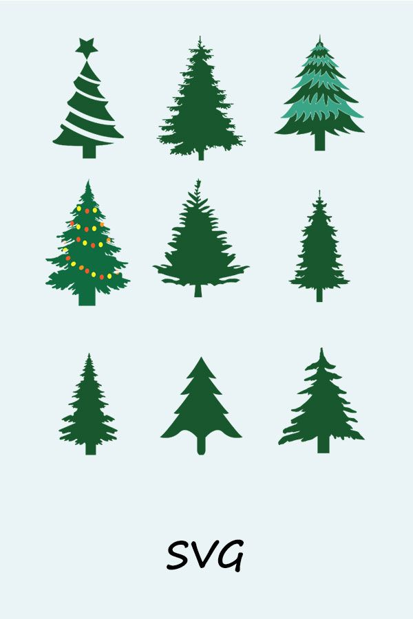 Christmas Tree Svg For Digital Silhouette And Cricut Printing Etsy In 2020 Christmas Tree Silhouette Tree Svg Christmas Tree Clipart