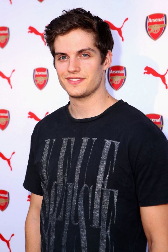 Daniel Sharman attends PUMA and Arsenal Football Club 2016/17 AFC Away & Third Kit reveal event on July 29, 2016 in Culver City, California.