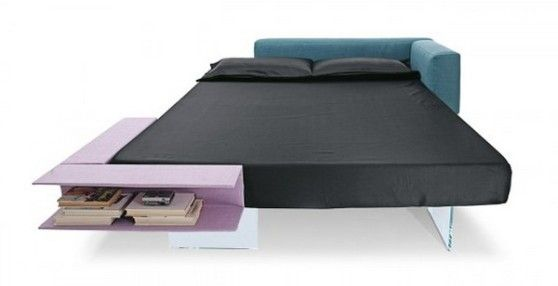 Storage Bed Ideas by Lago Floating Bed, Stylish Bedroom Ideas with Book Storage by Daniele Lago
