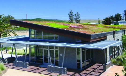Green-Roofed Ellis Creek Water Recycling Facility In California Uses Its Own Watewater For Irrigation | Inhabitat - Sustainable Design Innov...