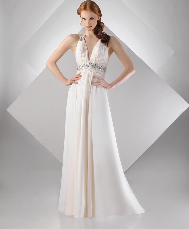 Sexy v neck chiffon shirred bust beaded waist double for Wedding dress large bust small waist