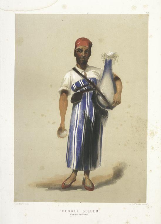 Seller of Sherbet, Constantinople (1854)
