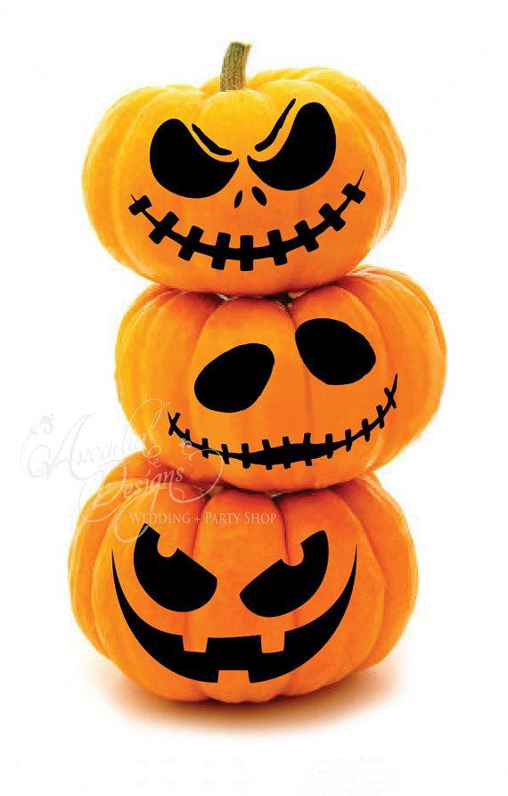 Printable halloween pumpkin carving pattern by