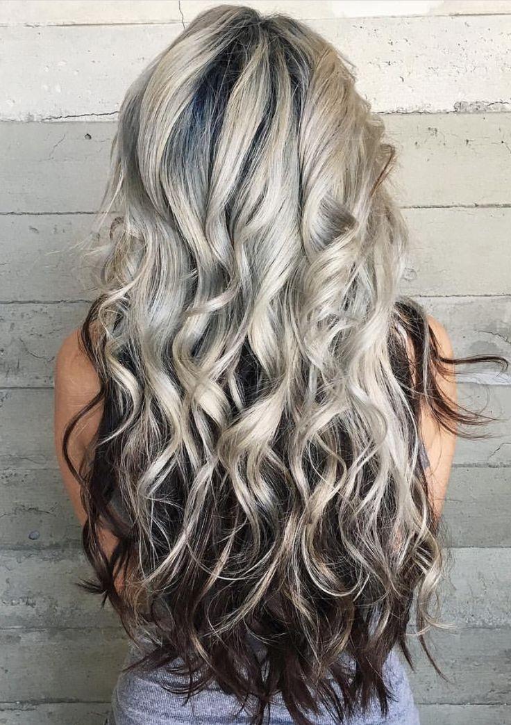platinum blonde with dark