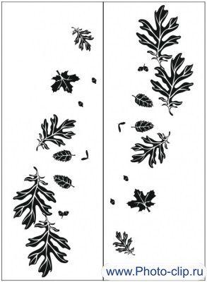 Пескоструйный рисунок листья 131