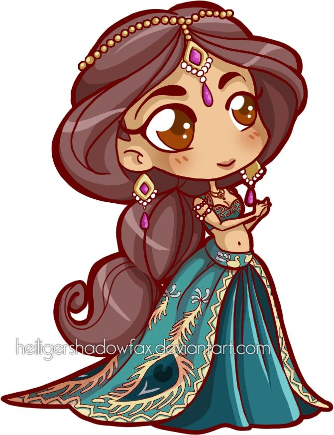 how to draw princess jasmine