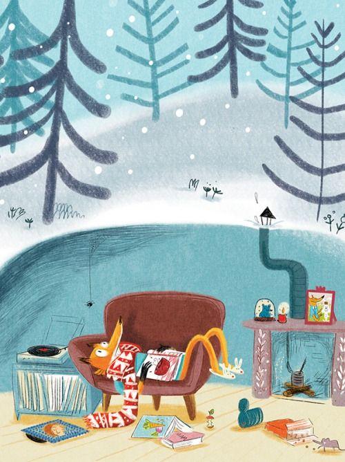 bibliolectors: Mejor leer que hibernar (ilustración de Jess Pauwel)