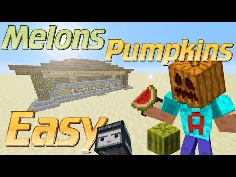 How to Make a Melon Farm with Observer Blocks in Minecraft | Minecraft Automatic Pumpkin Farm - YouTube