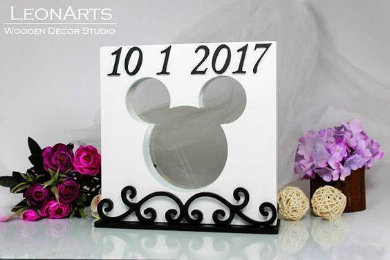 Mickey Maus Wedding Sand Ceremony Set Sand Ceremony Frame Stand